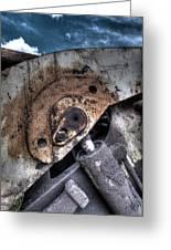 Machine Rust Hydraulic Ram Greeting Card