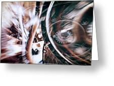 Machine Speed Warp In Blur Greeting Card