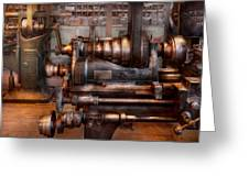 Machinist - Steampunk - 5 Speed Semi Automatic Greeting Card