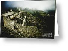 Machu Picchu In The Fog Greeting Card