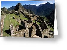 Machu Picchu Residential Sector Greeting Card