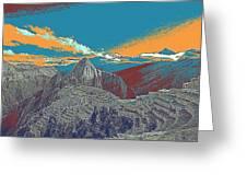 Machu Picchu Travel Poster Greeting Card