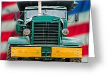 Mack Dump Truck Greeting Card