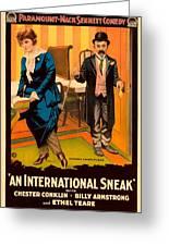 Mack Sennett Comedy - An International Sneak 1917 Greeting Card