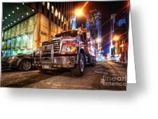 Mack Truck Nyc Greeting Card