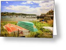 Mackerel Cove Dory And Dinghy   Greeting Card