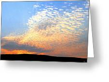 Mackerel Sky Greeting Card