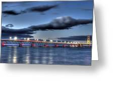 Mackinac Bridge   Greeting Card by Twenty Two North Photography