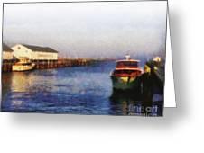 Mackinac Island Michigan Ferry Dock Greeting Card