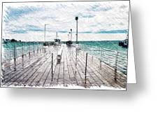 Mackinac Island Michigan Shuttle Pier Pa 02 Greeting Card
