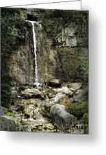 Mackinaw City Park Waterfalls Greeting Card