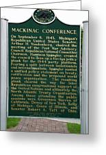Mackinaw Conference Signage Mackinac Island Michigan Vertical Greeting Card