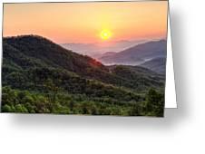 Macon County North Carolina Mountains Greeting Card