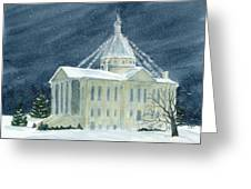 Macoupin County Illinois Courthouse Greeting Card