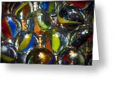 Macro Marbles Greeting Card