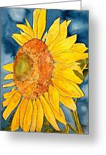 Macro Sunflower Art Greeting Card