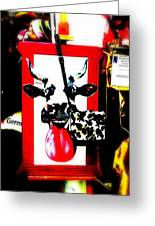 Mad Cow ...framed  Greeting Card