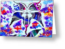 Mad Magical Garden. Greeting Card