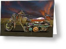 Mad Max Creater Motorcycle Greeting Card