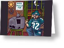 Mad Philly Fan In Texas Greeting Card