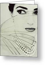 Madam Butterfly - Maria Callas  Greeting Card