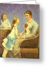 Madame Bouchet Et Ses Filles Greeting Card