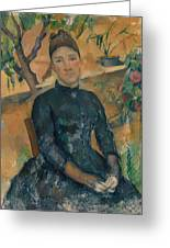 Madame Cezanne In The Conservatory Greeting Card