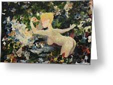 Madame De Pompadour In The Garden Of Eden Greeting Card