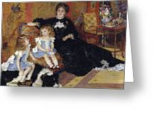 Madame Georges Charpentier Greeting Card
