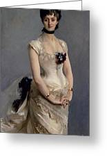 Madame Paul Poirson Greeting Card by John Singer Sargent