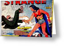 Madame Strange Female Comic Super Hero Greeting Card