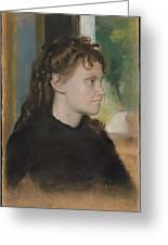 Madame Theodore Gobillard Yves Morisot, 1838-1893 , Edgar Degas French, Paris 1834-1917 Paris Greeting Card