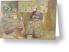 Madame Vuillard Sewing Greeting Card