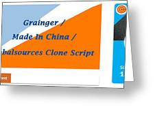 Made In China Clone - Made In China Script Greeting Card