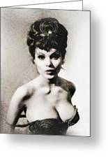 Madeline Smith, Vintage Actress Greeting Card