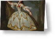 Mademoiselle Violette Dancing Greeting Card