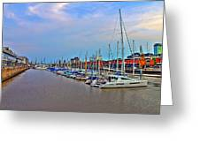 Madero Boat Yard Greeting Card