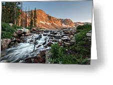 Madicine Bow Waterfall Greeting Card