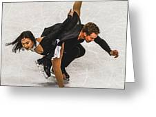 Madison Chock And Evan Bates Greeting Card