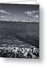 Madison Skyline - Black And White Greeting Card