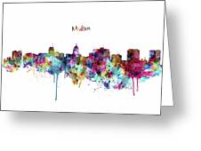 Madison Skyline Silhouette Greeting Card