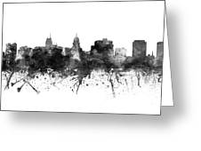 Madison Skyline Uswima09 Greeting Card