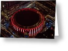 Madison Square Garden Aerial Greeting Card