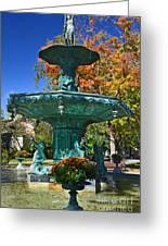 Madison Water Fountain In Fall Greeting Card