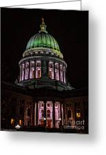 Madison Wi At Night Greeting Card