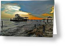 Madisonville Katrina Ghost Boat  Greeting Card