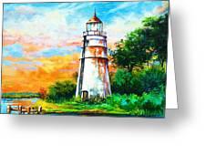 Madisonville Sunset Greeting Card