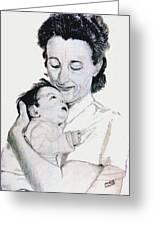 Madona And Baby Greeting Card