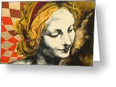 Madona Face Greeting Card