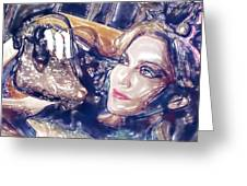 Madona Watercolor Greeting Card